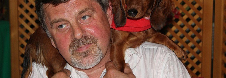 motivator Jozef Miština so psom
